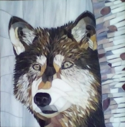 """"""" Lupa"""" mosaic, by Jacque Towner NFS"""
