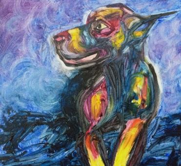 """""""Black Dog"""" by Renee Nolan"""