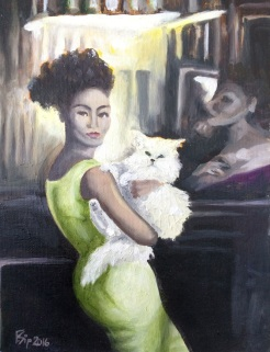 """""""Lady and the Cat"""" by Frances Sip NFS"""