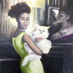 """Lady and the Cat"" by Frances Sip NFS"
