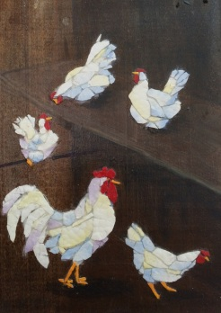""""""" In the House"""", eggshell, paint, wood, by Candace Clough, $160"""