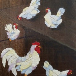 """ In the House"", eggshell, paint, wood, by Candace Clough, $160"