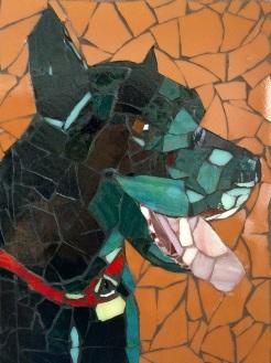 """ Sam"" mosaic by Ellen Hahn NFS"