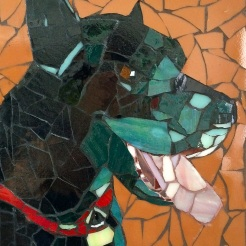 """ Sam"" mosaic by Ellen Hahn NFS"