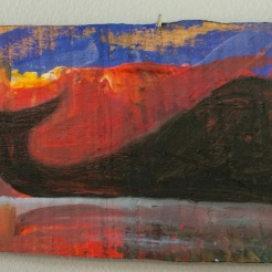 """ Whale"" oil on wood by Bill Pragluski $90"