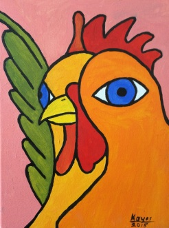"""""""Picasso Rooster"""" by Stan Kayes"""