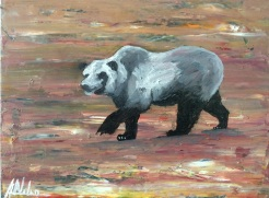 """ Bear"" by Abe Nolan oil on wood"
