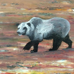 """ Bear"" by Abe Nolan oil on wood"