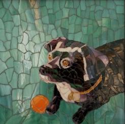 """ Tillie"", mosaic, by Patricia Reid"
